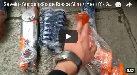 Saveiro Suspensão de Rosca Slim + Rodas Aro 18